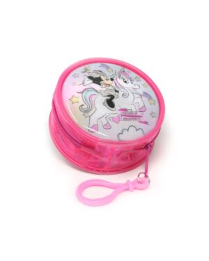 Zipped Round Coin Purse with key FOB Minnie___TM1564-8469T