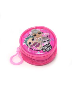 Zipped Round Coin Purse with key FOB LOL___TM1564-9112