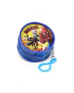 Zipped Round Coin Purse with key FOB Spiderman___TM1564-9183