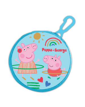 Zipped Round Coin Purse with key FOB Peppa Pig___TM1564-9434