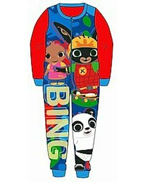Boys Bing Bunny Onesie Pyjamas Kids With Sula and Pando PL768
