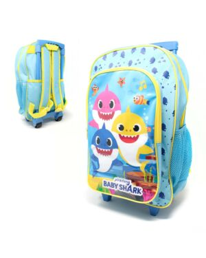 Deluxe Large Trolley Backpack Baby Shark PL1258