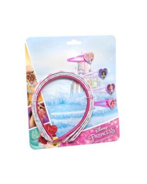 Princess 4pcs Hair Bands & 4pcs hair clips PL1155