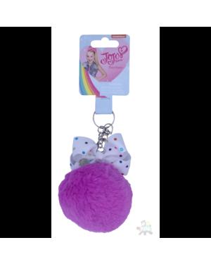 Jo Jo Bows Pom Pom Purple Keyring TMJJ184