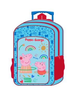 Deluxe Large Trolley Backpack with foldable trolley mechanism  Peppa Pig___TM1019HV-9434