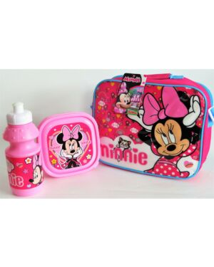 3pce Lunch Bag Set Disney Minnie / Horizontal with strap TM0013
