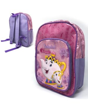 Deluxe Backpack with front & Side Pocket Princess Beauty & Beast___TM10297-8354
