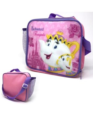 Princess Beauty & Beast Lunch Bag with side pocket and shoulder strap ___TM1225HV-8354