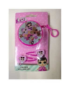 Zip Round Coin Purse with Hair Clips Set LOL Surprise___TM1563-8279