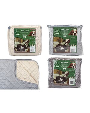 CRUFTS 3 SEAT SOFA COVER IN    PVC BAG W/HANDLE & LABEL 3ASST