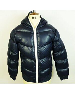 Girls Puffa Padded Quilted School Coat Jacket Black Navy TD10194