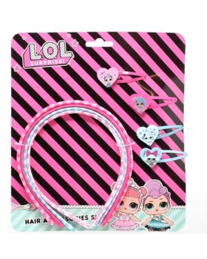 LOL 4pcs Hair Bands & 4pcs hair clips___TM2419-8554