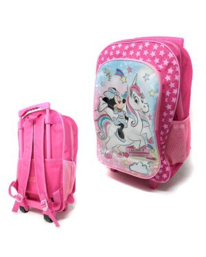 Deluxe Large Trolley Backpack with foldable trolley mechanism  Minnie Unicorn___TM1019HV-8469T