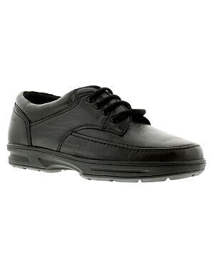 Mens Shoe A0113BLKPE BRIAN 7X12-133311=12 BLACK LEATHER JBI0071