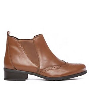 Ladies Shoe A0333TABPA CHELSEA 3X8-123321=12 TAN LEATHER JBI0136