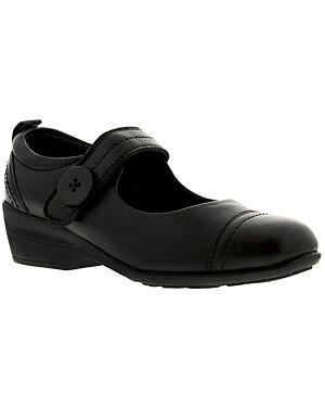 Ladies Shoe A1413BLKPA EDWINA 4x8-23421=12BLACK LEATHER JBI0101