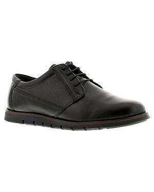 Mens Shoe A2340BLKPE ANGUS 7X12-133311=12 BLACK LEATHER JBI0067