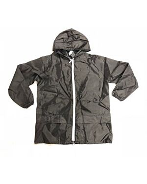 Adults Anorak Rain Jacket with Zip in Black and Navy TD10651
