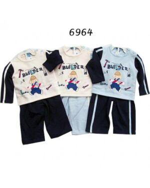 BABY BOYS 2pcs PRINTED SUIT SET MJ4651
