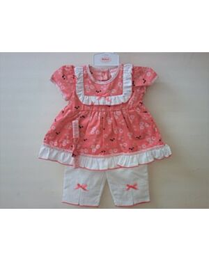 BABY GIRLS DRESS WITH PRINT SET QA4071