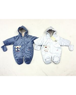 BABY SLEEP SUIT WITH A PUPPY EMBROIDERY MJ6456
