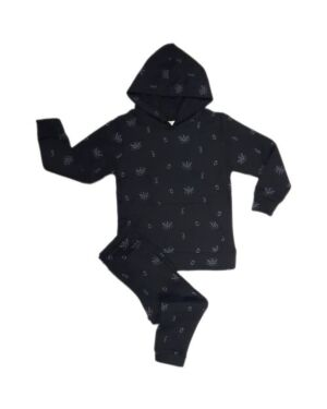 Causal Jogging Suit With Pockets  and all Over Print PL0101