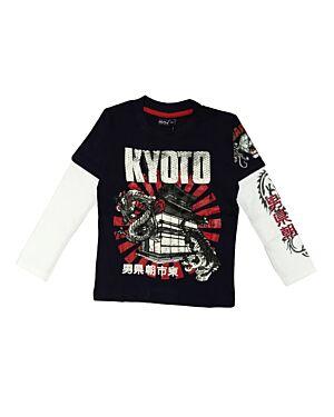 boys long sleeve printed t shirt PL0025