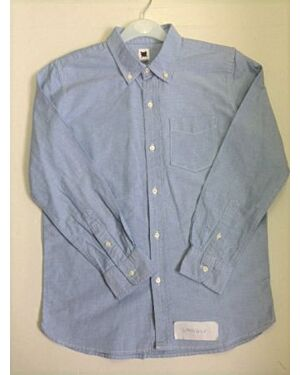 Boys Exchainstore Blue Causal Oxford Shirt New Arrivals - Direct Discount Clothing QA735