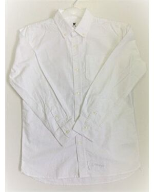 Boys Exchainstore White Causal Oxford Shirt New Arrivals - Direct Discount Clothing QA734