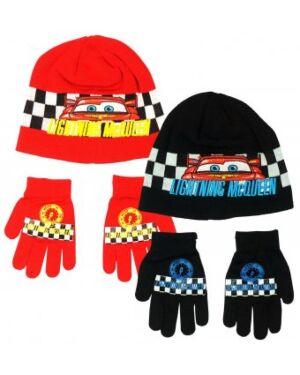 Boys Disney Pixar Cars Lightning McQueen Beanie Hat And Gloves Set TD10384