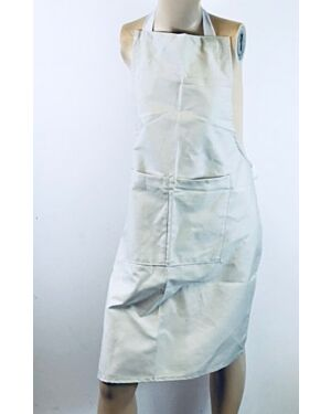 CHILDRENS SCHOOL APRON IN WHITE AND CREAM TD10855