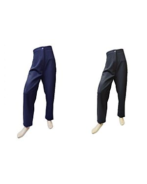 OLDER GIRLS FITTED BLACK STRETCH FABRIC SCHOOL TROUSERS PL1609