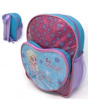 DISNEY FROZEN GLITTER BACKPACK WITH FRONT HEART POCKET - QA918 WH