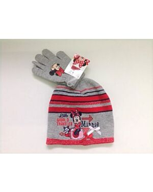 Disney Minnie Mouse Embroidered Hat and Glove Set QA731
