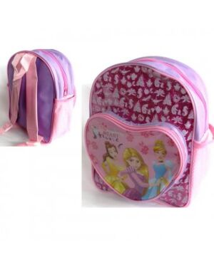 DISNEY PRINCESS GLITTER BACKPACK WITH FRONT HEART POCKET - QA891