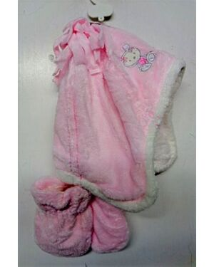 Exchainstore Velour Hat And Mittens Set QA921
