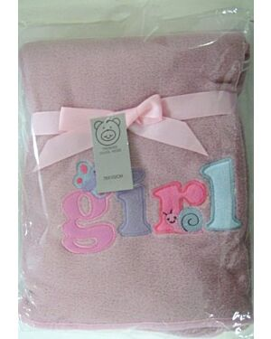 Baby Girls Coral Fleece wrap - MJ5592