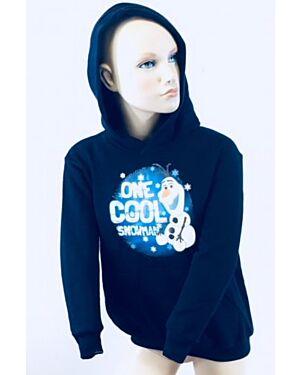 Girls Ex Chain Store Disney Frozen Heavy Fleece Hoodie Top TD10537