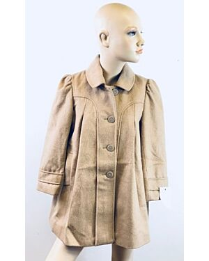 GIRLS EXCHAINSTORE FASHIONABLE SMART WINTER COAT WITH COLLAR QA791