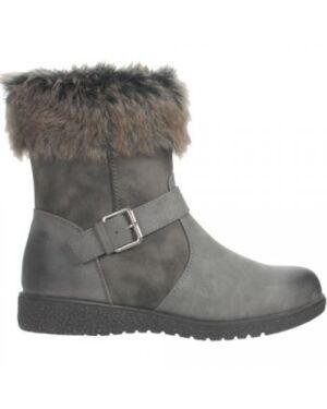 Girls Gluv furry grey Fashionable Boot PL467