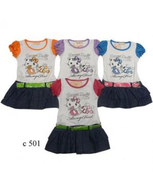 GIRLS PRINTED HELLO KITTY SUMMER DRESS TD3925