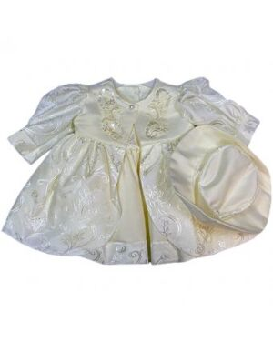 GIRLS PARTY DRESS With Attached Hat Girls Victorian / Edwardian Maids Pinafore Apron & Mop Hat Fancy Dress Costume. GIRLS PARTY DRESS With Attached Hat