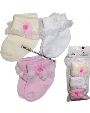 BABY GIRL PRETTY SOCK MJ3382