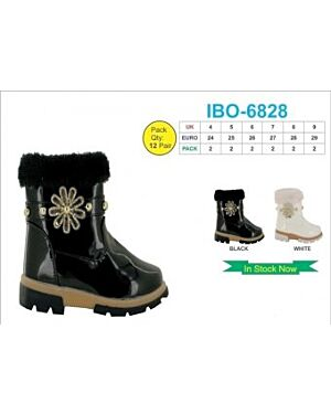 GIRLS TRENDY WINTER BOOT WITH A BUCKLE QA1066