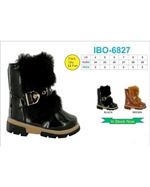 GIRLS TRENDY WINTER BOOT WITH A BUCKLE QA1065