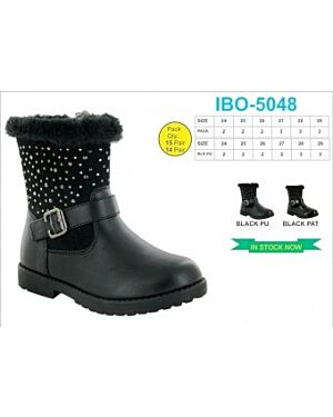 GIRLS TRENDY WINTER BOOT WITH A BUCKLE QA1061