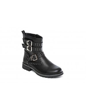 Girls Violet Black Fashion Boot QA873