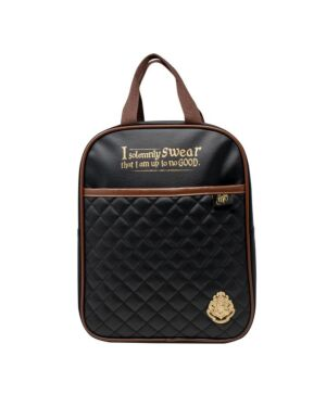 Harry Potter Quilted Backpack Black & Tan BSS-SLHP366