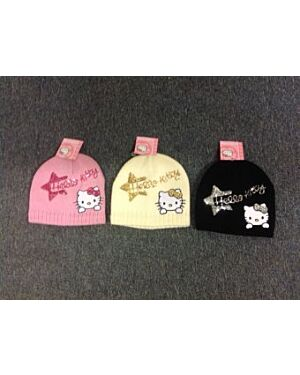 Hello Kitty sequin embroidered fleece lined hat MJ6261