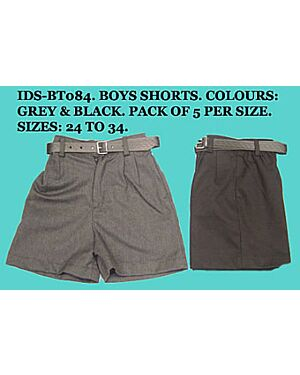 Boys Half Elasticated Waist School Short Trouser - BT084
